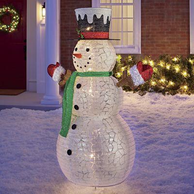 Pop-Up Lighted Snowman
