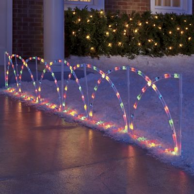 Colorful Fence Lights
