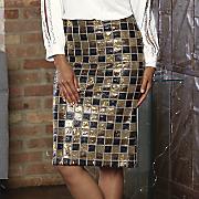 sequin pencil skirt 46