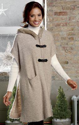 Toggle Sweater Poncho