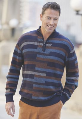 Men's Brick Pattern Sweater