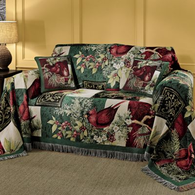 Etonnant Winter Cardinal Furniture Throw By Susan Winget