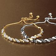 diamond swirl adjustable bracelet