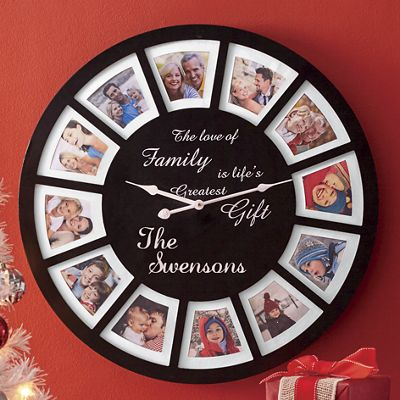Personalized Photo Frame Clock From Seventh Avenue Dw743052