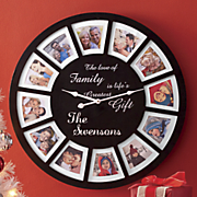 personalized photo frame clock 20