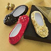 women s sequined footie slippers