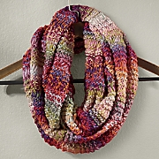 Colorful Ombre Knit Infinity Scarf