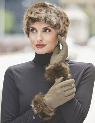 Women's Monroe Faux Fur Trim Glove