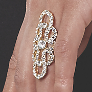 crystal fringe stretch ring