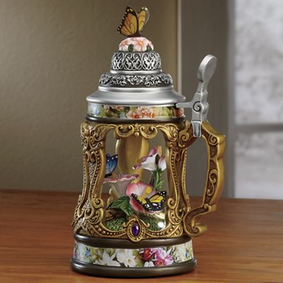 Lighted Butterfly/Flower Stein