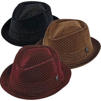 Men's Velvet Fedora Hat by Stacy Adams