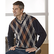 Navy V-Neck Sweater by F/X Fusion