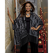 aurelia burn out design fringe wrap