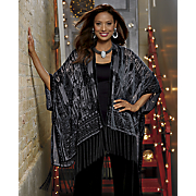 Aurelia Burn-Out Design Fringe Wrap