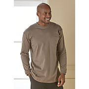 men s jersey crew neck with pocket by cotton traders