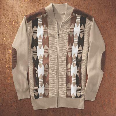 Full-Zip Sweater Jacket