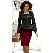 mariana faux leather jacket dress