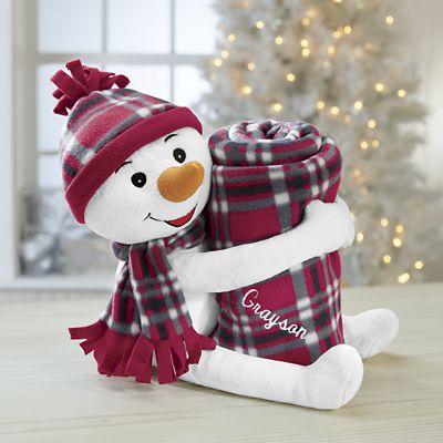 Personalized Snowman Blanket Hugger