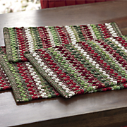 Set of 4 Wintergreen Chindi Placemats