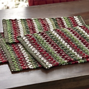 Set of 4 Wintergreen Chindi Placemats