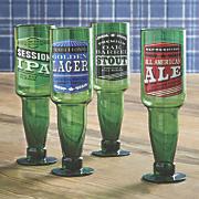 Set of 4 Upside Down Beer Bottle Glasses
