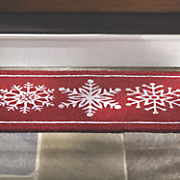 "Red Snowflake Doormat - 30"" X 18"""