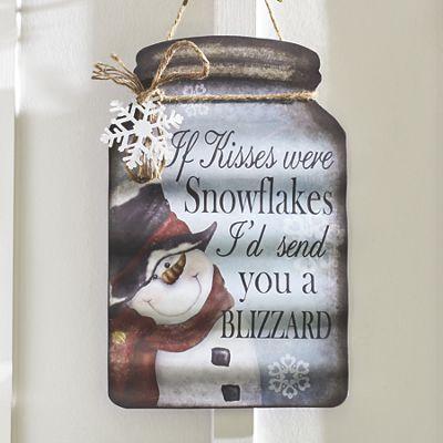 Snowflake Kisses Sign
