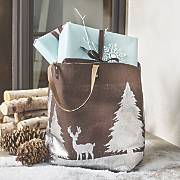 Silver Wilderness Jute Tote
