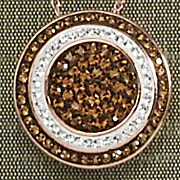 Crystal Alternating Round Pendant