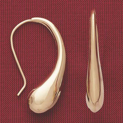 10K Gold Teardrop Earrings