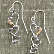 Black Hills Gold Triple Heart Earrings