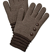 Women's Button Knit Gloves