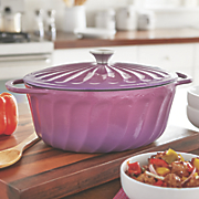 Ginny's Brand 5-Qt. Oval Cast Iron Dutch Oven