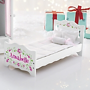 Personalized Doll Bed with Bedding