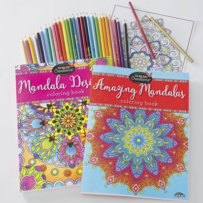 Set of 2 Adult Coloring Books