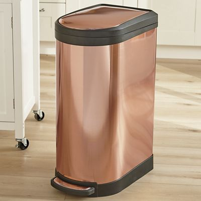 10.5-Gallon Fingerprint-Proof Trash Can