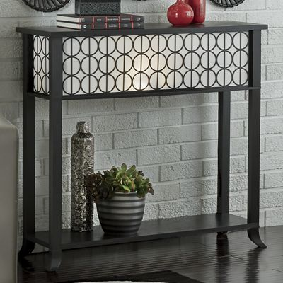 Circles Lighted Console Table