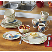 16 pc  garden rooster dinnerware set by paula deen