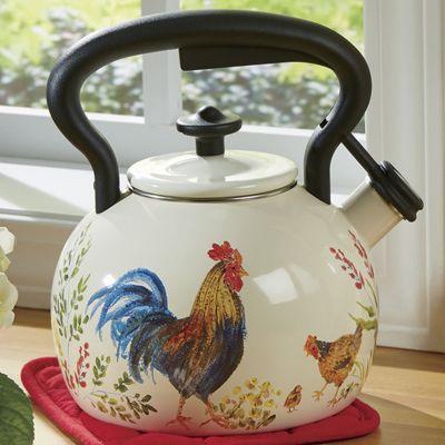 Garden Rooster Tea Kettle by Paula Deen