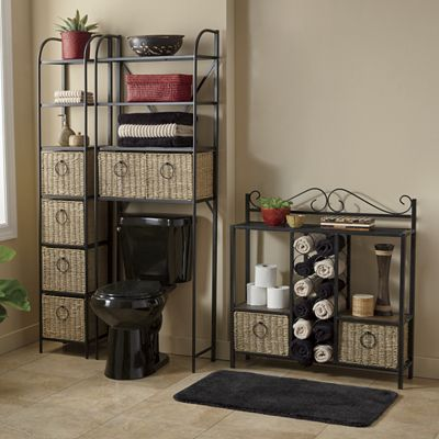 Windsor Tower, Towel Storage Rack and Space Saver with Baskets from ...
