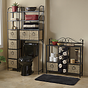 Windsor Tower, Towel Storage Rack and Space Saver with Baskets