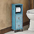 Embossed Floral Toilet Paper Stand