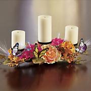 lit harvest butterfly tabletop candelabra