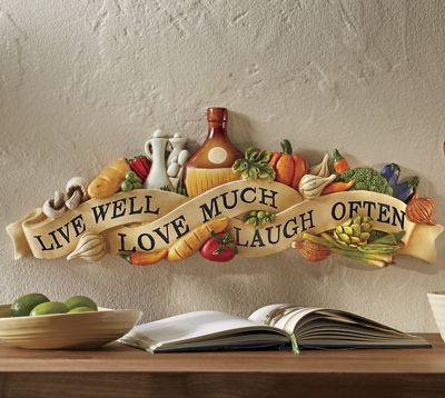 Live Laugh Love Veggie Wall Art
