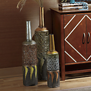 3 pc  ethnic vase set