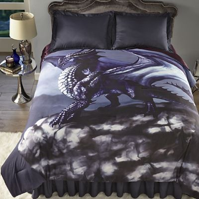 Ethereal Dragon Comforter Set and Shower Curtain