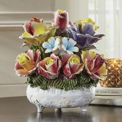 Capodimonte Ceramic Flower Basket