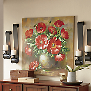 Hand-Painted Canvas Flowers