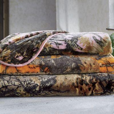 Camo Plush Blanket