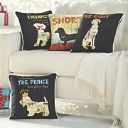dog word pillow